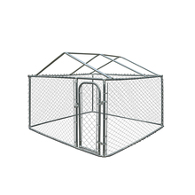 10ftx10ftx6ft Outdoor Chain Link Boxed Dog Run Kennel Anjing