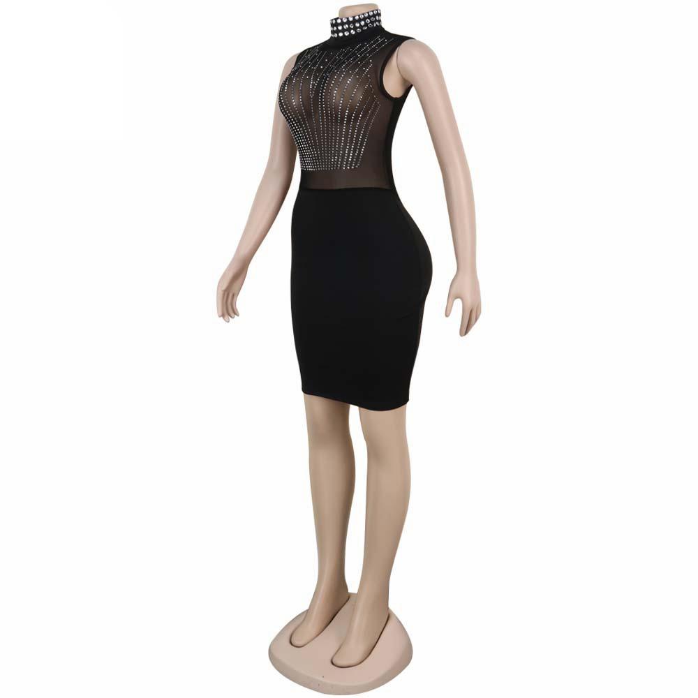 Seheแฟชั่นแขนกุดโปร่งใสเสื้อผู้หญิงDressesเสื้อผ้าแฟชั่นสำหรับสตรี 2019