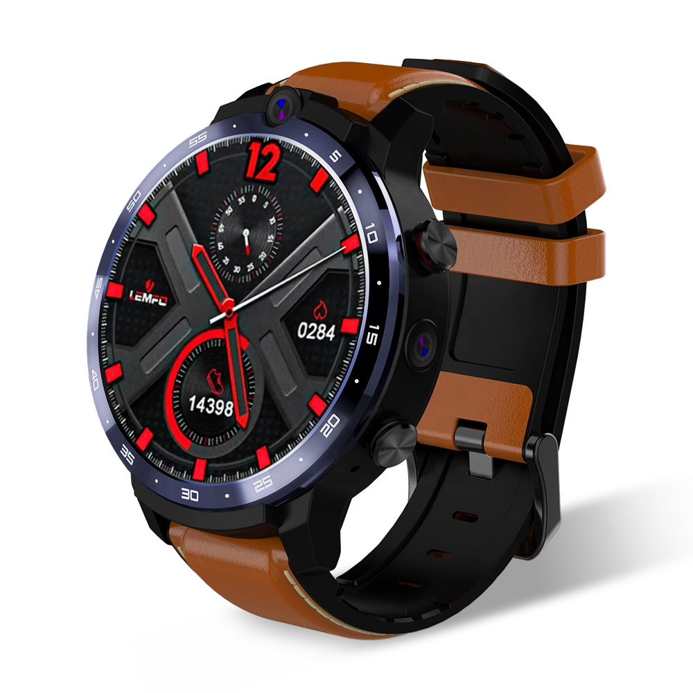 Original LEM12 Smart Watch 4G GPS Android Face ID <strong>Dual</strong> Camera 1.6 Inch 3GB 32GB 1800mah Battery <strong>LTE</strong> 4G full screen Smartwatch