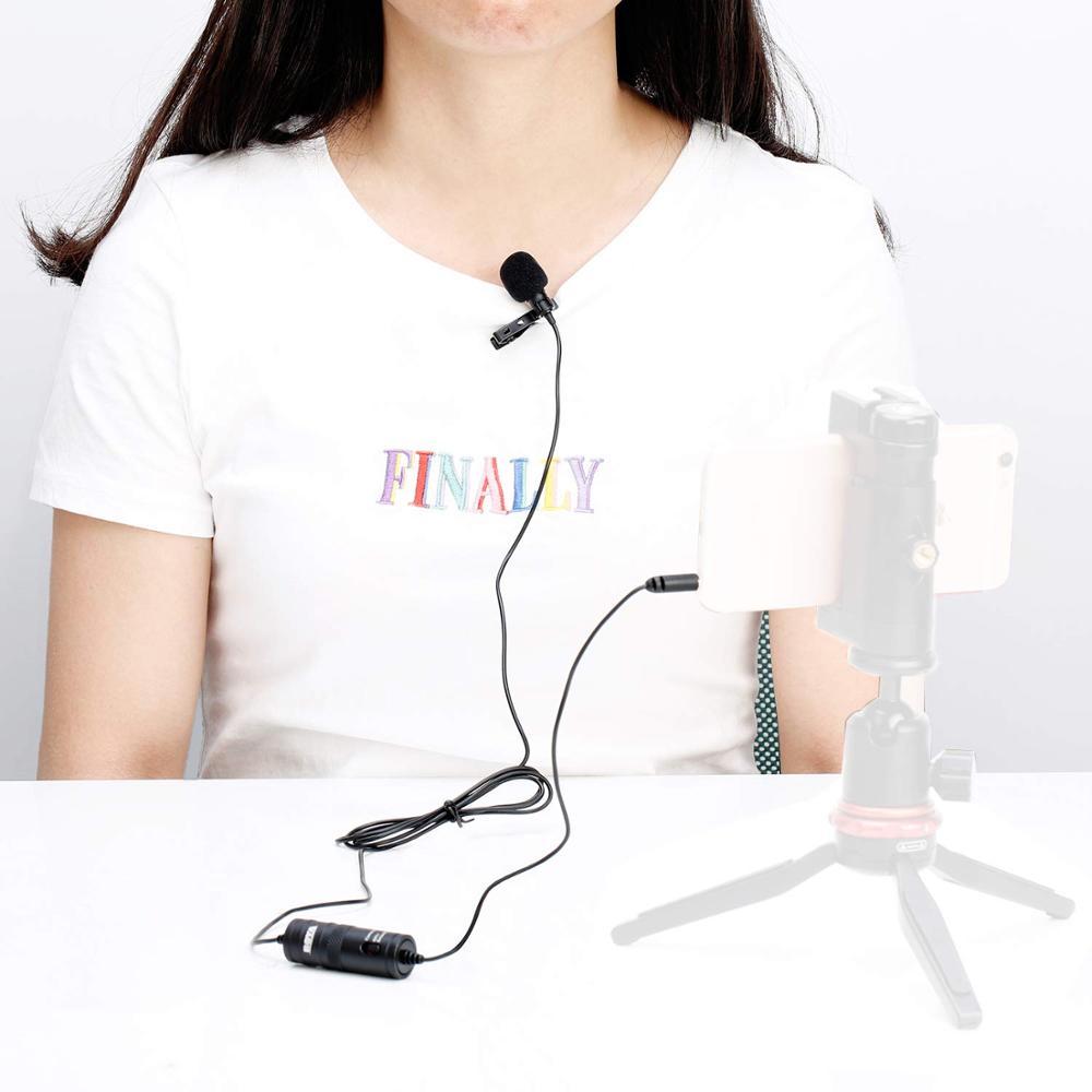 BOYA BY-M1 Mini Wired Lavalier Collare Cravatta Clip di Microfono del Mic per Il Iphone