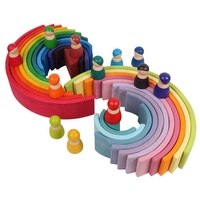 Creative Montessori Educational Stacker educational wooden Rainbow toy