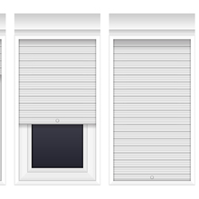 Rolling Up Type Security Manual Or Electric Operation Aluminum Window Rolling Shutters