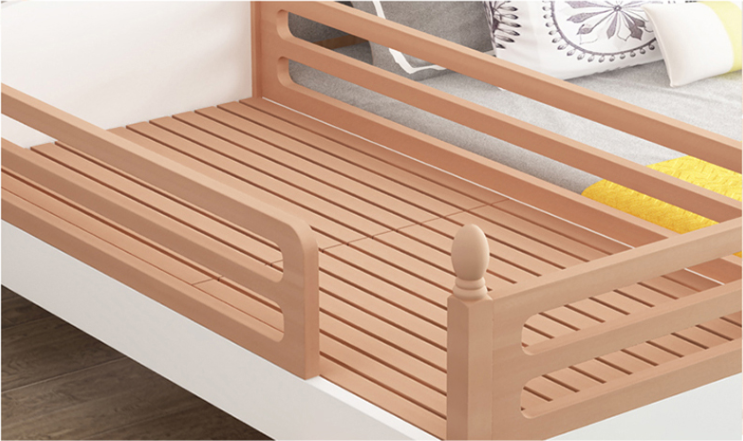 Comfortable children's bed with guardrail  Eco Friendly Toddler Bed Splicing bed