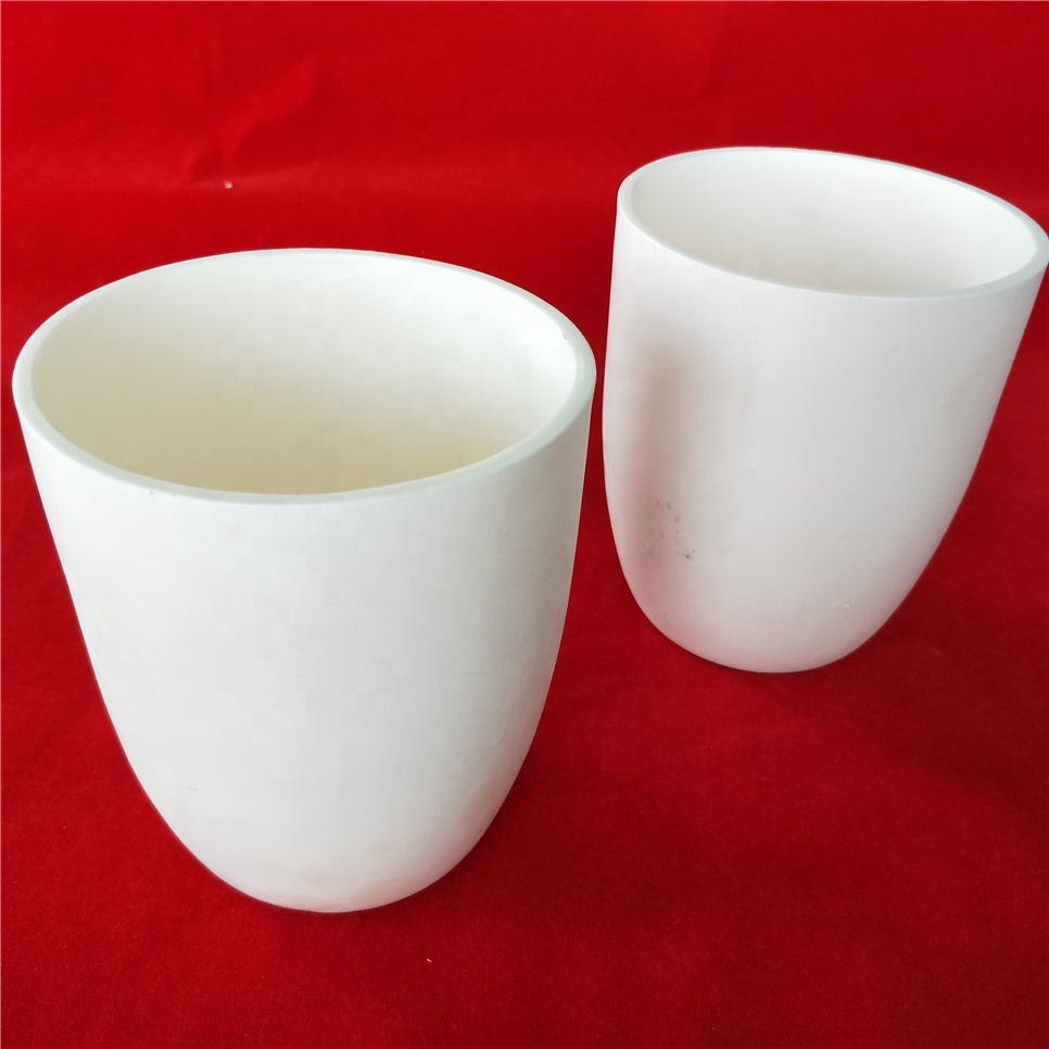 High purity 99 al2o3 ceramic 500ml alumina crucible for melting test