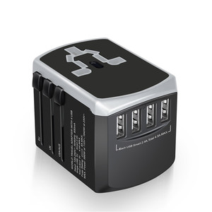 Wontravel electronic products 5v 3.4a power adapter 4usb all in one international travel charger