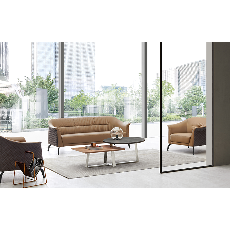 Sythetic Leather Office sofa Set 1+1+3 Commercial Furniture General Use sofa for office use SF192