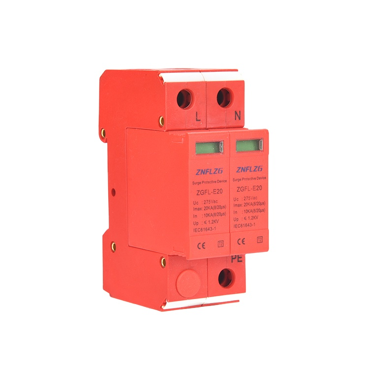 spd 275 <strong>V</strong> surge protector 20kA 2P lighting protector