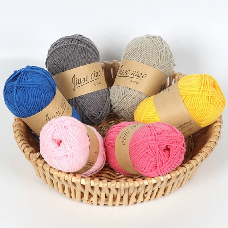 2020 High Quality New Hand-Woven 5 Strands Milk Cotton Crocheted Thick Wool Thread Anti-pilling Baby Wool Sewing & Knitting Yarn