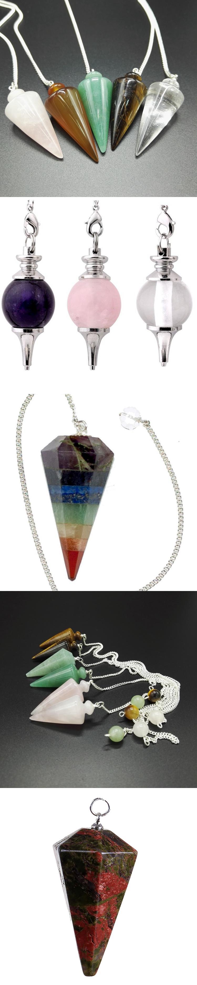 Feng shui semi precious stone pendulum dowsing healing