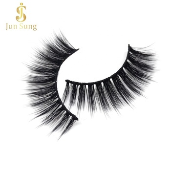 Wholesale Faux Mink Eyelashes Custom Packaging Box 3d Synthetic Silk Lashes