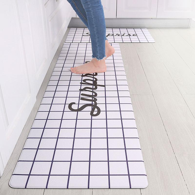 Alas Berdiri Dapur Cetakan Kustom, Mudah Dicuci, Tikar Karpet Anti Air Anti Selip Pvc