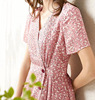 Fashion Ruffle Tunic Casual Mini Floral Print Dresses Summer For Ladies Wear