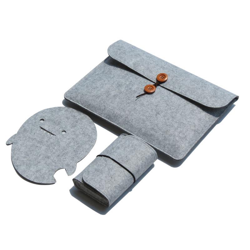 China manufacturer custom size Felt Fabric computer case Laptop sleeve