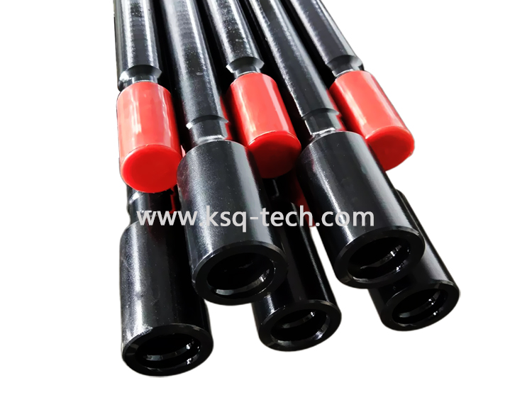 Milling Rock Drilling Tools R25,R28 ,R32 Drifter Rod With Flushing Hole8.6, 8.8 0and 9.5 Mm