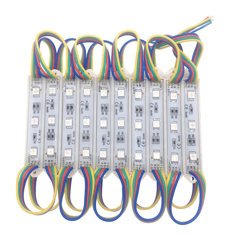 high power waterproof ledmodules advertisement sign light modules 12v modulo lens smd 5050 rgb led module