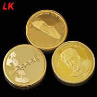 Canada 24k gold plating art challenge animal engraved coins