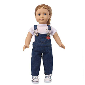 Wholesale Boutique 12 14 18 Inch American Girl Denim Casual Doll Accessories Clothes