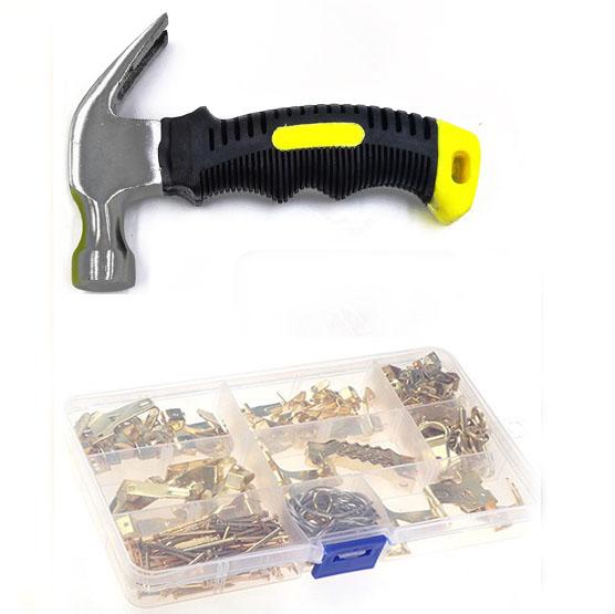220 pcs wall mount Picture frame hanger kits tool hardware panel hanger hook set