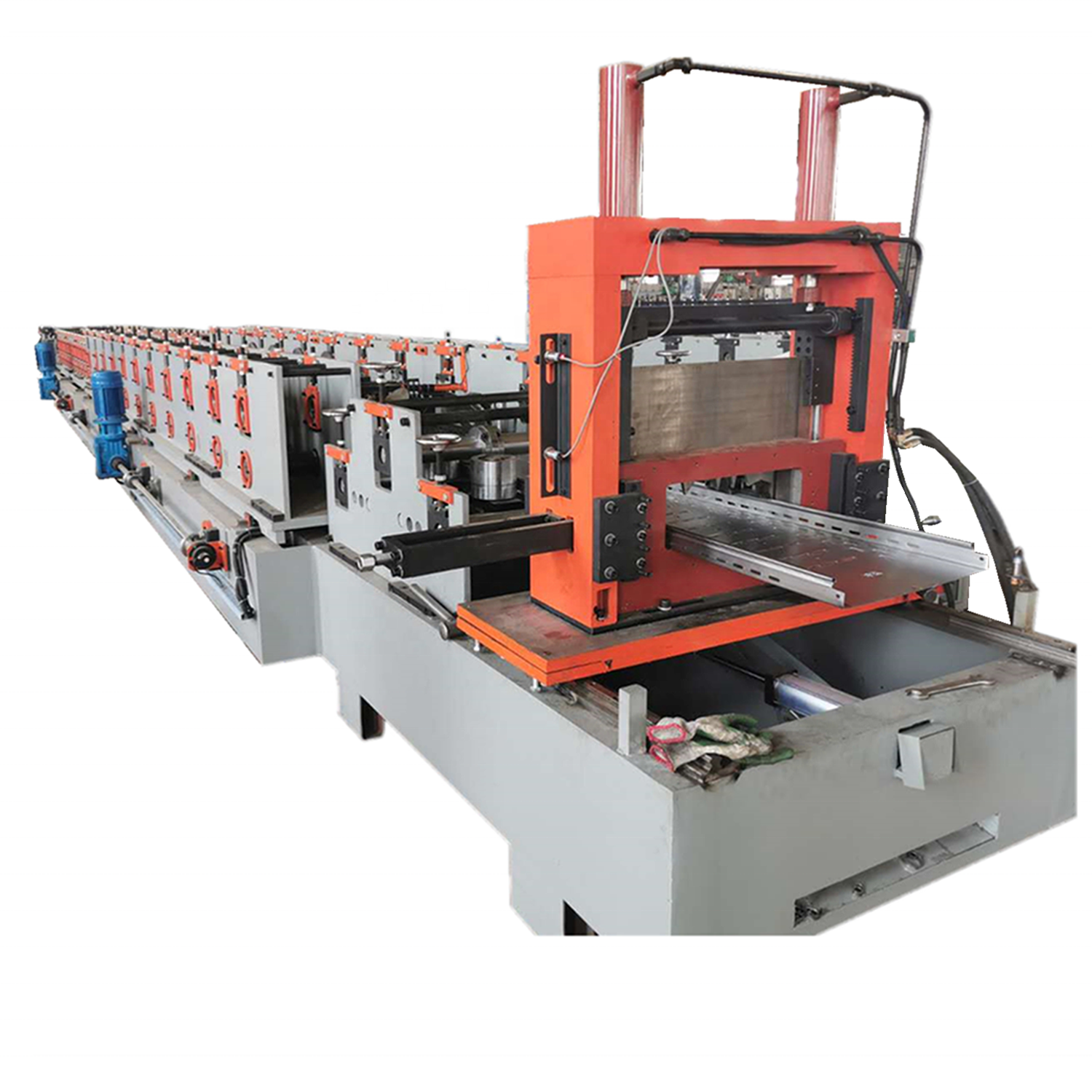 automatic change 100-600mm size Cable tray roll forming machine