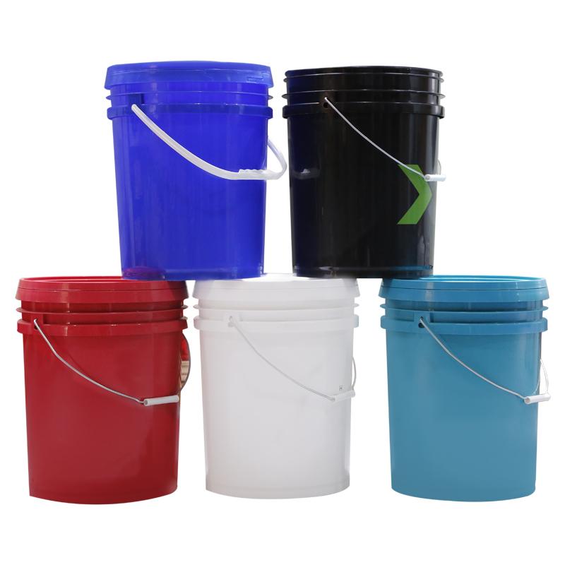 20L 25L Food Grade 5 Gallon 7 Gallon plastic buckets with handle paint plastic pail