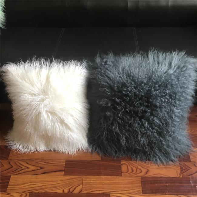 Living room Chair Fur Mongolian Pillow Cover