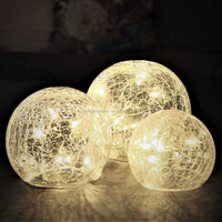 Round 19Inch Crackle Glass Ball Lamp Shade Lighting Cover for Table Lamp Floor Lamp