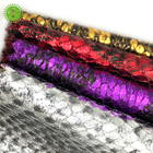 Faux snake pattern pu leather fabric for gloves / leather skirt / leather pants /