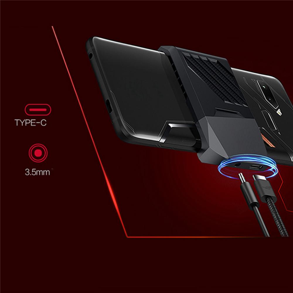 Mobile Phone Cooling Fan External Radiator Dock cooler ROG 2 Smartphone Radiator Stand Mount Holder Fan Game Anti-Heat Adapter