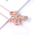 European And American Brooch Pin, Alloy Plating Rose Gold Bow Brooch