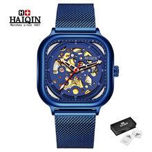 Мужские автоматические механические часы HAIQIN, модные повседневные водонепроницаемые часы, 2019(Китай)