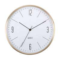 12 Inch Round Elegant Home Decoration Aluminum Wall Clock modern
