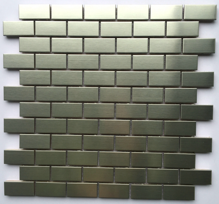 Hot selling Matt Metal Mosaic Stainless steel Mosaic for bathroom and kitchen Foshan China