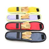 Hot Selling Natural Reusable Bamboo Knife Fork Spoon Set Biodegradable Wooden Cutlery for Travel