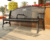 Factory Wholesale Outdoor furniture Park Seats metal garden leisure bench street flat steel black Garden bench seating