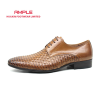 MEN LEATHER SHOES DRESS SHOES CLASSIC SHOES HAND WEAVED handmade