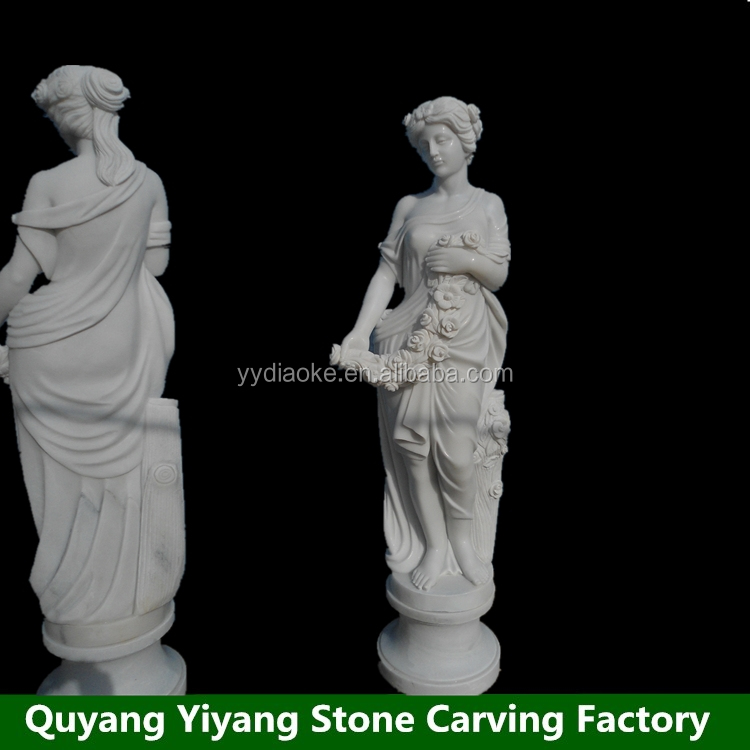 Outdoor steen marmer carving standbeelden naakte vrouw sculptuur
