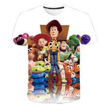 Toy Story 4 Forky Alien/Летняя футболка мужская и женская футболка детские футболки с короткими рукавами для мальчиков и девочек, детская повседневна...(Китай)