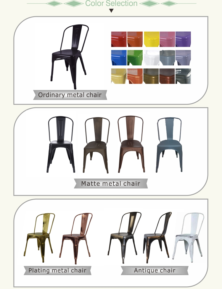 Wholesale industrial new style restaurant metal chair