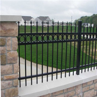 6ft*8ft powder coated wrought iron fence for pool/garden