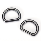 Ring Metal Buckle Buckle Metal Ring Buckle Bag Hardware Accessories Nickel D Ring Shape Metal Zinc Alloy Buckle For Handbags