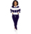 SMN3136 fall winter casual sports ladies two piece set striped printed long sleeved hoodie straight leg pants women 2 piece set