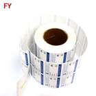 High quality printable coated art paper package label sticker roll