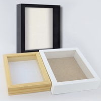 Bulk white 3d deep medal display frame for art Square 12x12 black Shadow Box wholesale with linen