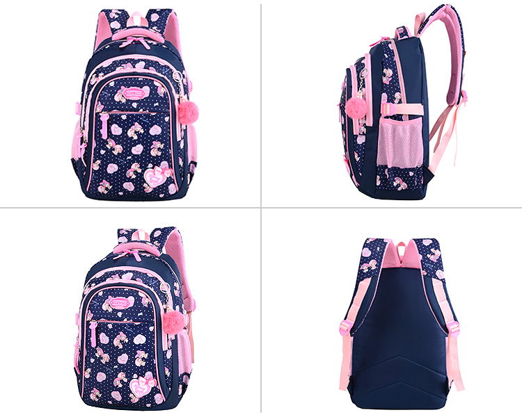 Fashion child waterproof backpack teenage school bags set