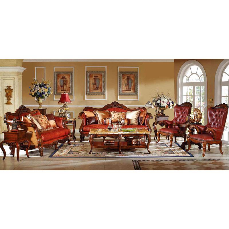 Yeni model klasik oturma odası mobilya antika kanepeler GH58.2