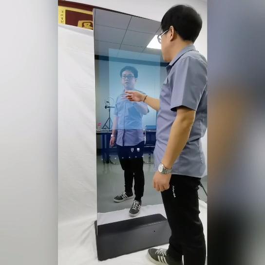 Özelleştirilmiş lcd dokunmatik ekran interaktif selfie ayna reklam ekranı sihirli ayna