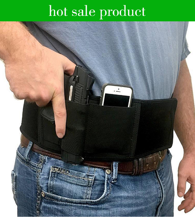 WHITE X LARGE WOMEN/'S LADIES WAISTBAND BELLY BAND CONCEALED HOLSTER USA MADE Hot