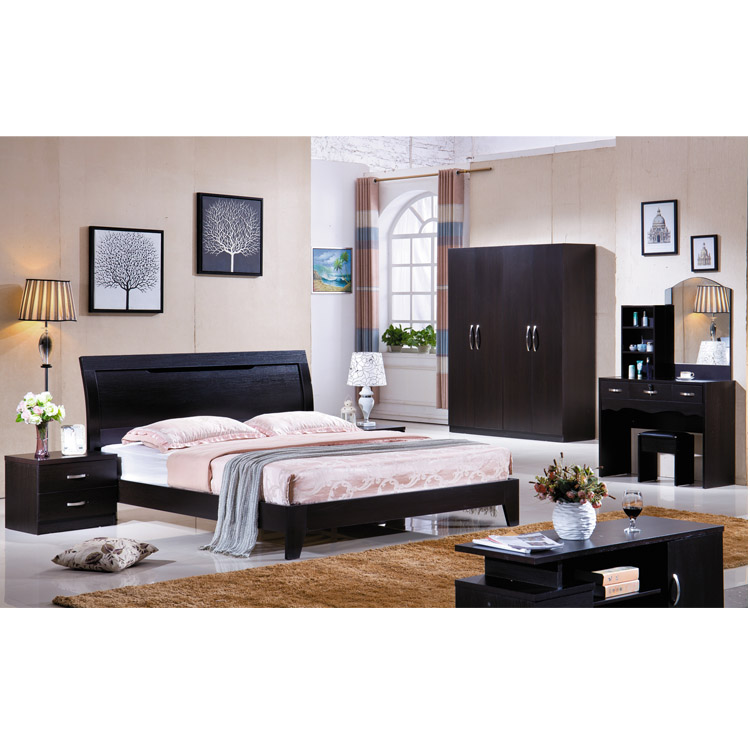 Guangzhou Modern Bed Room Set Middle East Style Bedroom Funiture With Closet