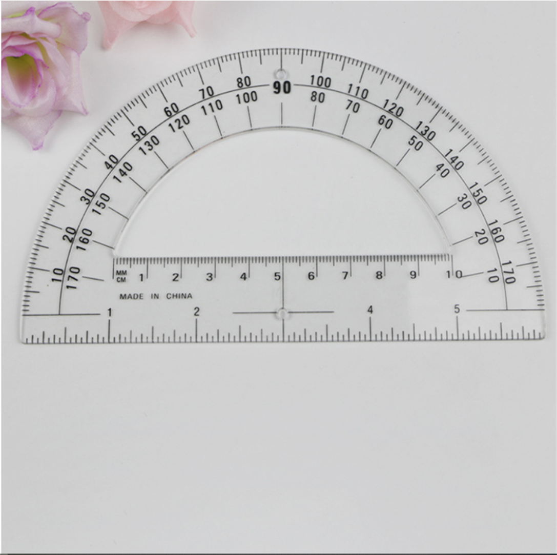 photograph relating to Protractor Printable named Plastic Protractors Math Protractor 180 Amounts (6 Inch Crystal clear) - Get 180 Diploma Plastic Protractor,50 % Circle Protractor,Printable Fifty percent Circle