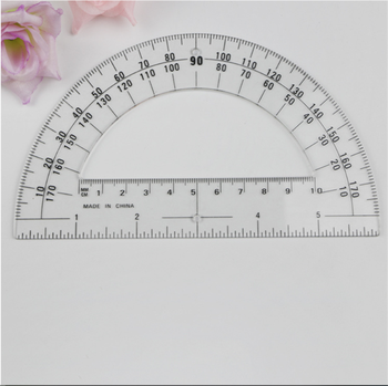 graphic regarding Printable Inch Ruler identified as Plastic Protractors Math Protractor 180 Concentrations (6 Inch Distinct) - Order 180 Amount Plastic Protractor,50 % Circle Protractor,Printable Fifty percent Circle